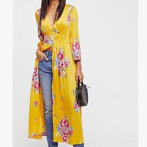 FREE PEOPLE Alexa Floral Kimono Duster Sz L